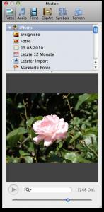 Bilder Videos Töne direkt in Office 2011 via Mac Integration
