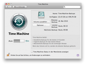 Time Machine Backup Step1 via NAS oder Server