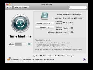 Time Machine Backup Step1 via NAS oder Server