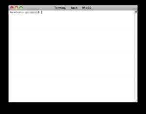 Terminal für das Einrichten von Time Maschine auf NAS und Server
