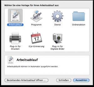 Apple Automator - Nummerierungen hinzufügen Schritt 1