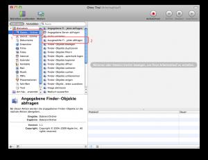 Automator Apple Arbeitsablauf Nummerierung Definieren Schritt 2