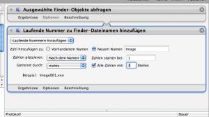 Fertige Automator Einstellungen für Nummerierung Apple