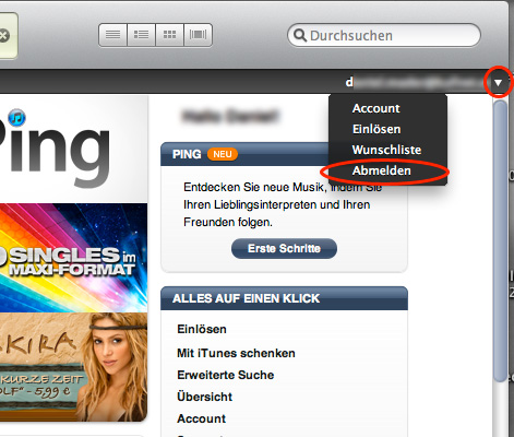 Step1 der Anleitung US DE UK Account Apple iTunes