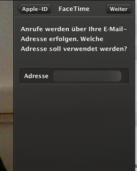 Facetime Os X Apple Login Site email bestätigen