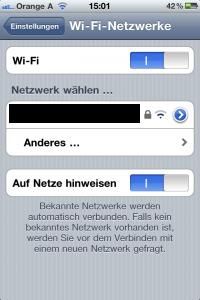 Tipps und Tricks iPhone Apple Wi-Fi deaktivieren