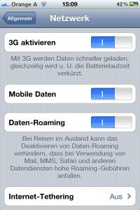 Tipps und Tricks Apple iPhone 3G deaktivieren