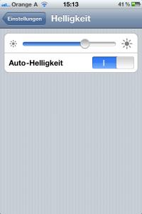 Tipps und Trick Helligkeit auf dem Apple iPhone einstellen