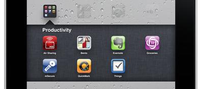 Ordner anlegen unter iOS 4.2. Apple iPad