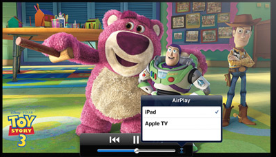 Air Play auf dem iPad und iPhone unter iOS 4.2. Apple