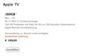 AppleTV im Store nicht verfügbar - jetzt kommt das neue AppleTV