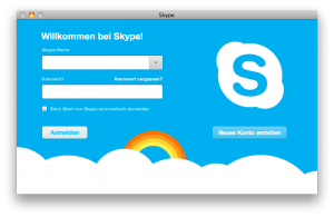 Skypelogin Beta - Skype 5 für Mac Apple