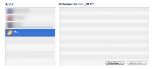 Hinzufügen von Filmen in VLC Player für iPhone