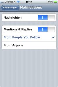 Einstellungen Twitter App News Apple Österreich