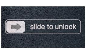 Slide to unlock Apple iPhone iPad Fußmatte Apple News Österreich Schweiz
