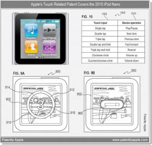 Mac iPod Nano Steuerung Tippen Scrollen drehen Apple News Österreich Patent