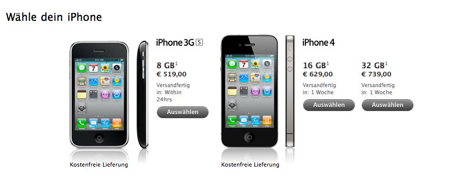 iPhone 4 Österreich