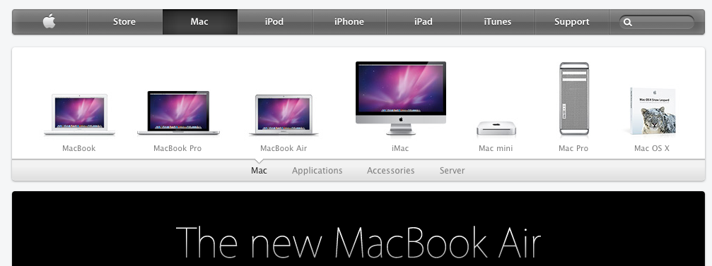 Apple Menü Design Neu Apple.com Mac News Österreich Schweiz