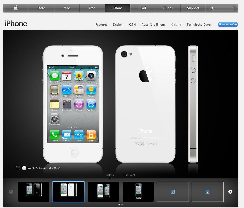 Apple, News Österreich Mac iPhone weiß iPhone 4 Release