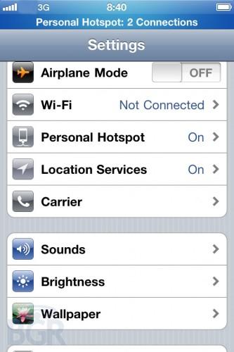 Apple iPhone GSM Hotspotfunktion Apple News Österreich Schweiz