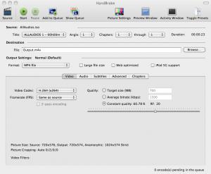 Handbrake software für Mac Apple gratis Free Dvd rippen Apple TV