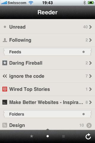 RSS Reader iPhone iPad Apple News iOS gut 5 Sterne