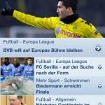 Sportschau App News Österreich Mac WDR ARD Sport iPhone iPod Touch