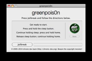 Greenpois0n Jailbreak iPhone 4 Apple News Österreich Mac 4.2.1 Tutorial Anleitung
