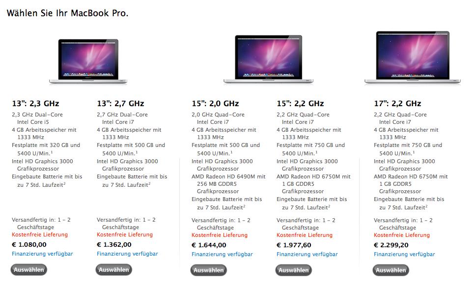 Apple News Österreich Mac - Macbook - Macbook Pro Education