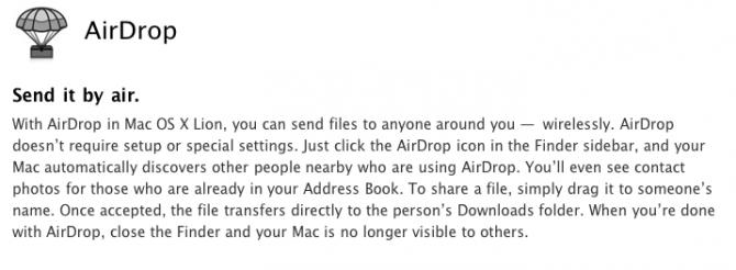 Apple News Österreich Schweiz os X Lion Airdrop