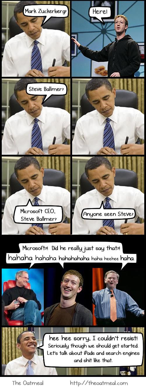 Apple, News, Österreich Mac Meeting Barack Obama Steve Jobs Microsoft