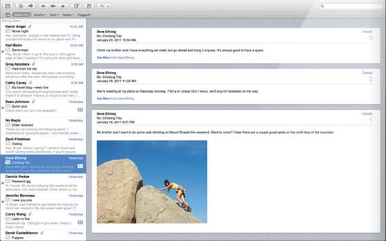 Apple News Österreich Mac OX Lion Mail.app