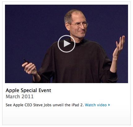 Apple News, Österreich Mac Keynote Steve Jobs IPad 2