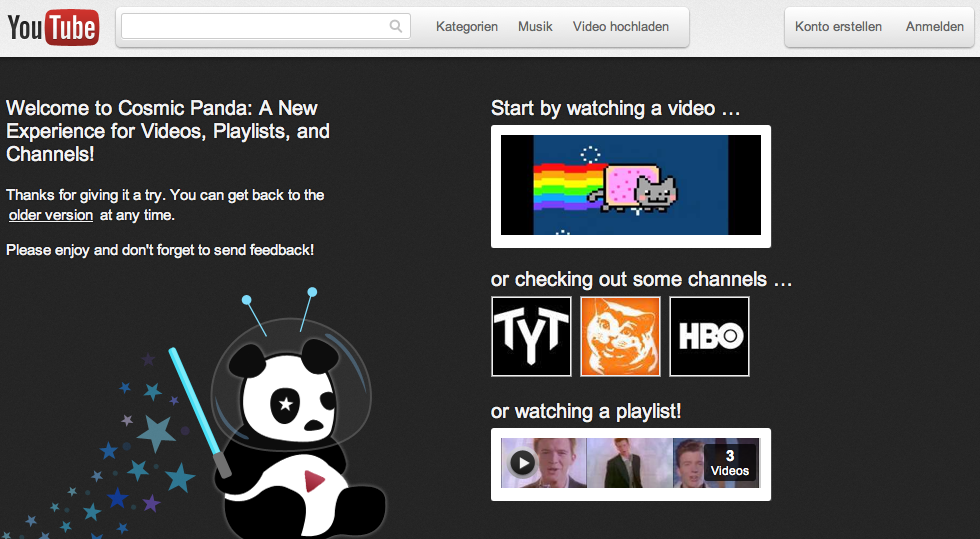 Cosmic Panda Youtube Apple News Österreich Mac iPhone