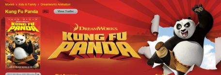 Dreamworks Kong Fu Panda, Shrek Filme iTunes Apple TV