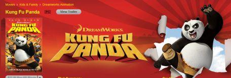 Dreamworks Kong Fu Panda, Shrek Filme iTunes Apple TV