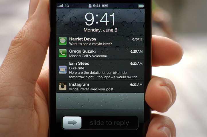 ios5 notification center - Mitteilungszentrale Apple iPhone4S