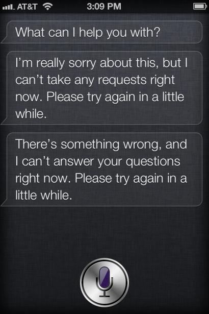 Apple Siri störung ausfall iPhone 4s .- Siri geht nicht