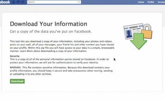 Facebook persönliche Daten Downloaden