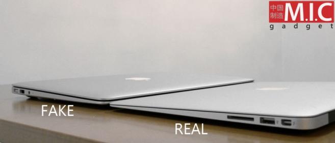Macbook Air Fälschung China nicht kaufen
