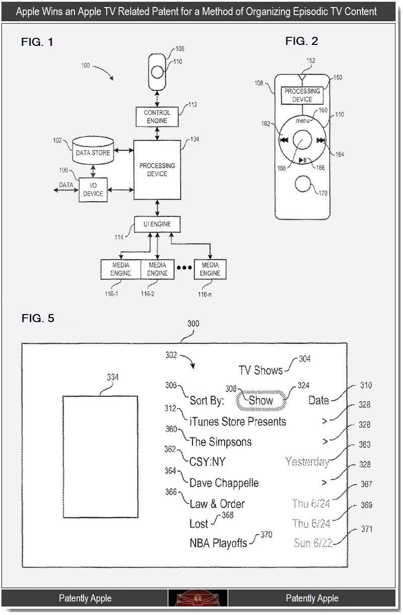 Apple Patent Fernsehsendungen Speichern iTV