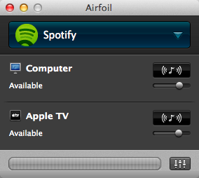 Airfoil Spotify über AppleTV Streamen