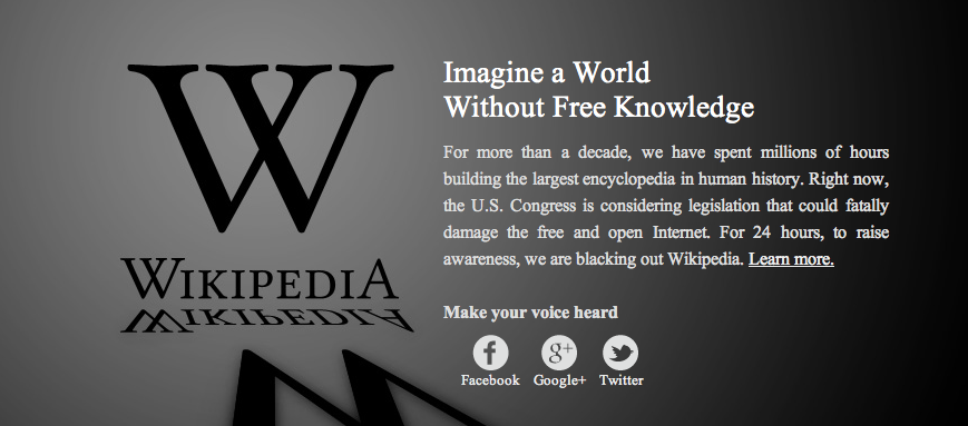 Protest SOPA Gesetz