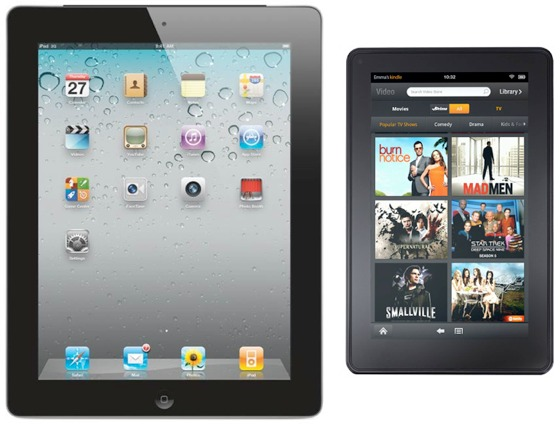 iPad vs. Kindle Fire von Amazon, iPad 2, iPad 3
