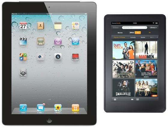 iPad vs. Kindle Fire von Amazon, iPad 2, iPad 3