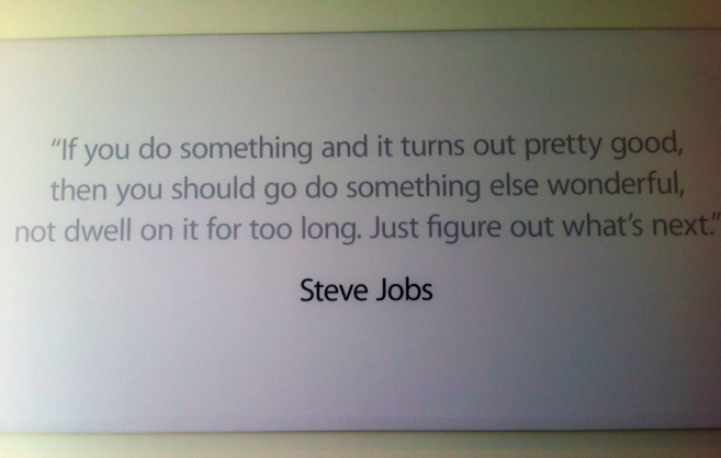 steve Jobs Zitat in Cupertino Kampus