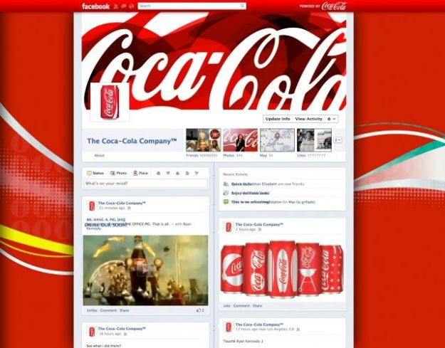Facebook Fanpage im timeline format