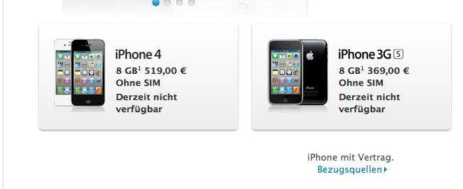 Unglaublich!!! Verkaufsverbot von iPhones im deutschen Apple Store