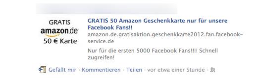 Amazon Gutschein Facebook Hoax