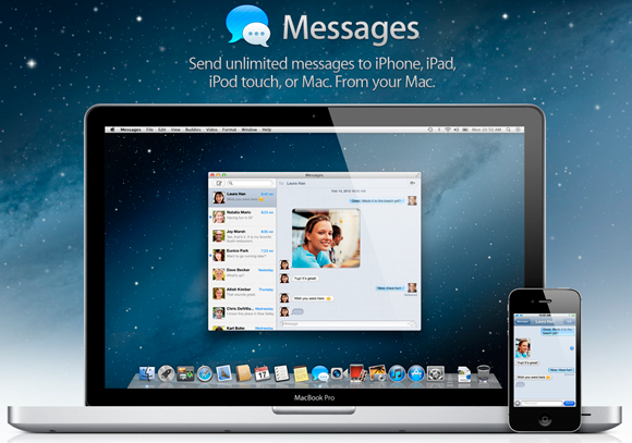 Apple News iMessage unter 10.8 Mountain Lion